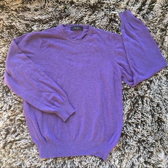 Zara Other - Zara wool blend purple sweater top sz medium M